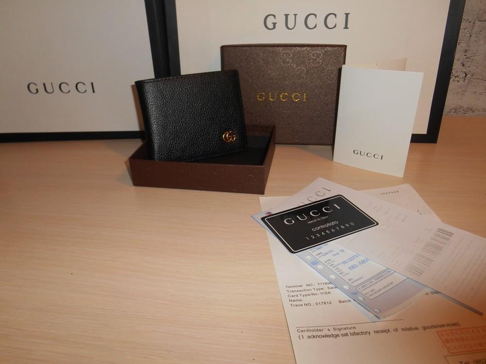 Мужской кошелек, портмоне, бумажник gucci, кожа, италия фото №1