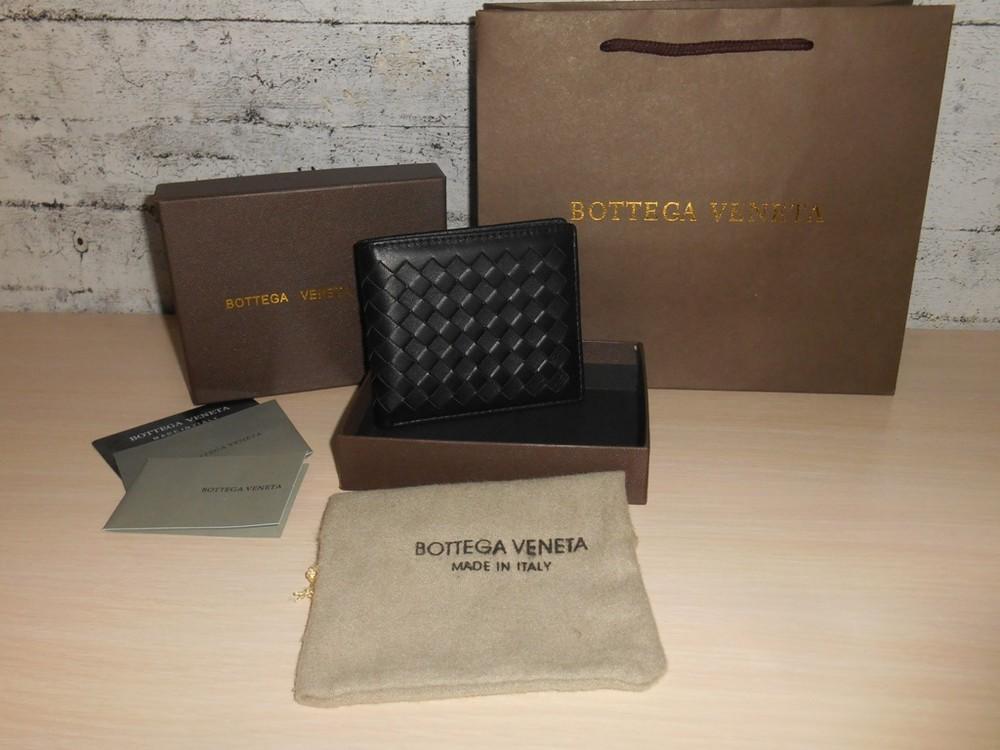 Мужской кошелек, портмоне, бумажник bottega veneta, кожа, италия фото №1