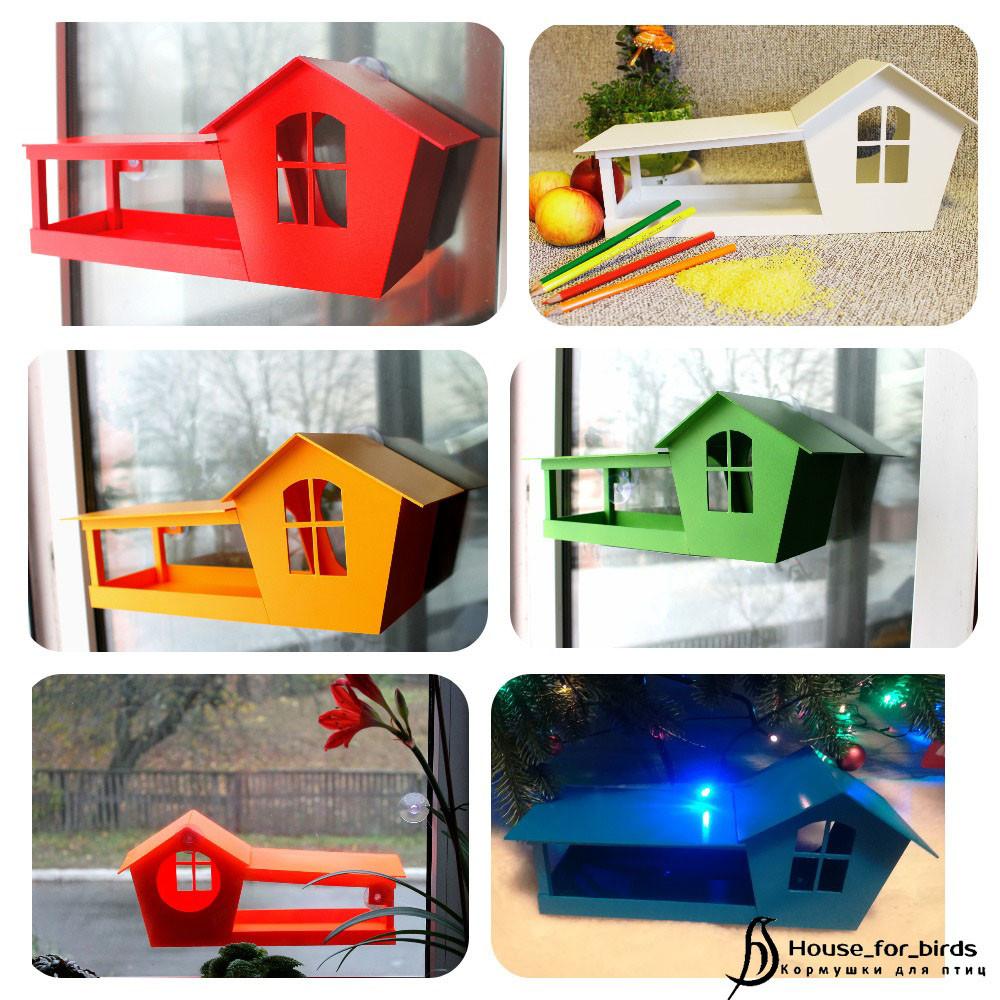 Кормушки домик на окно фото №1