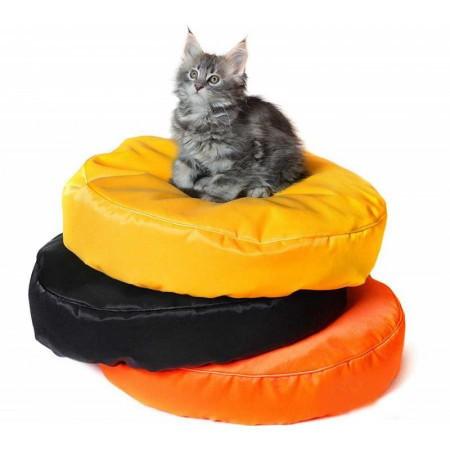 Бескаркасный круглый лежак для котов из ткани оксфорд стронг разные цвета и размеры фото №1