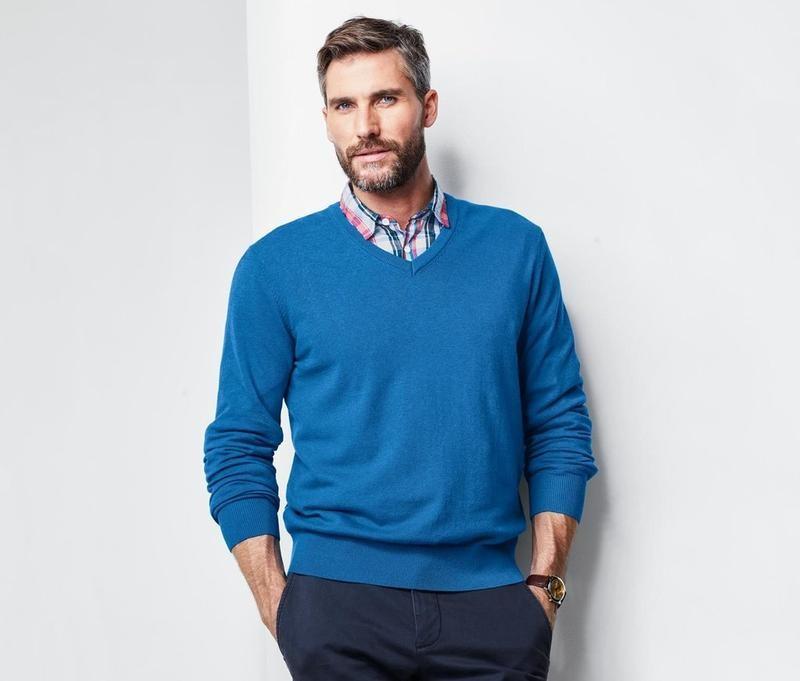 Элегантный мужской джемперок, свитер от tcm tchibo, германия, р-р м 48-50 фото №1