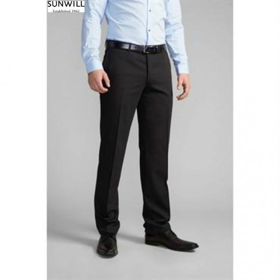 Классические черные габадиновые штаны от sunwill, пр-во швеция фото №1