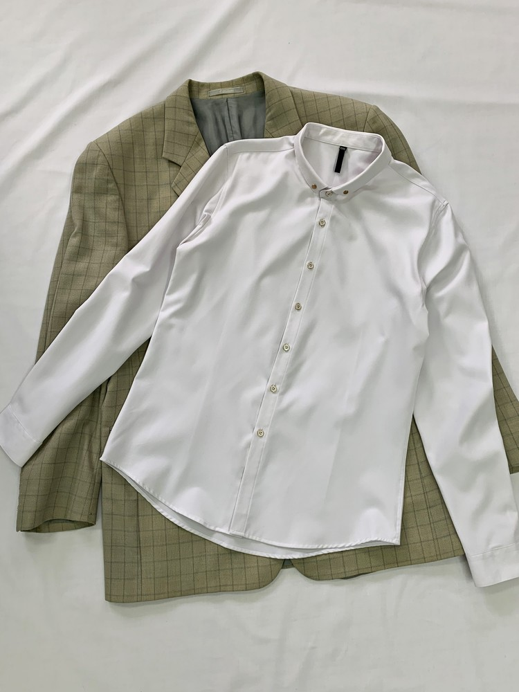 Мужская приталенная рубашка фото №1