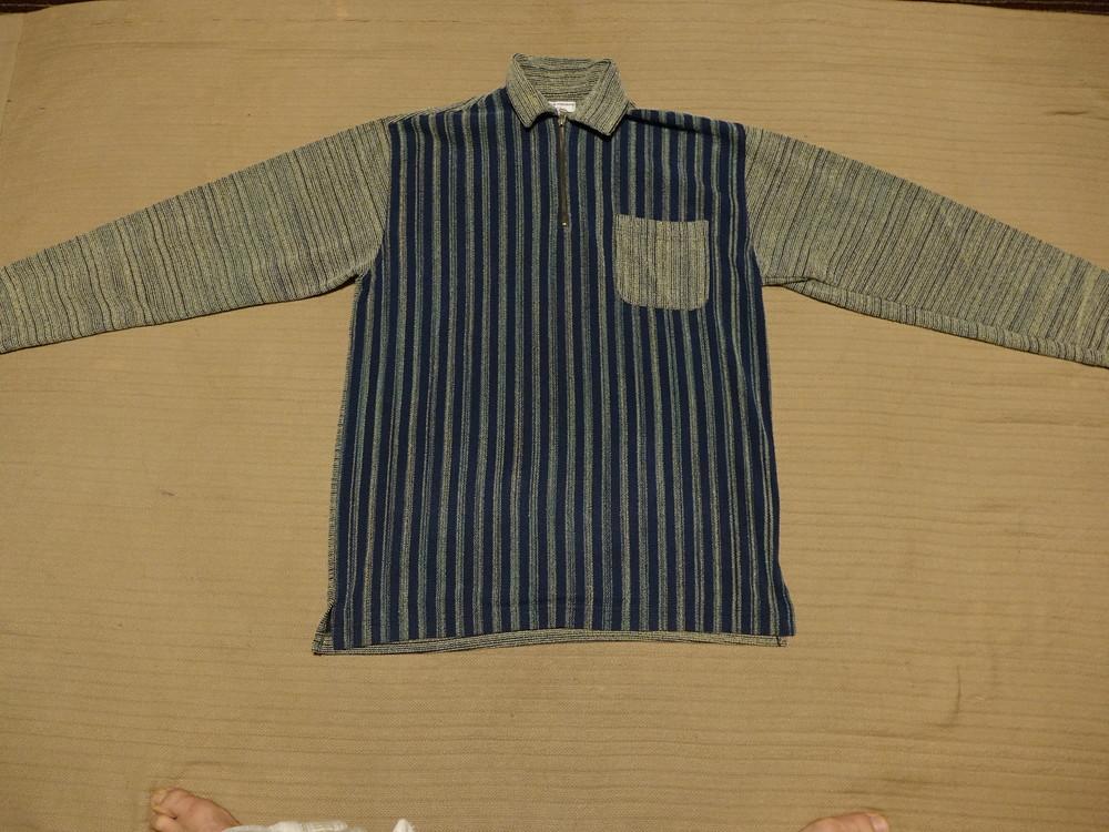Объемный джемпер из комбинированной буклированной ткани vroom&dreesmann голландия m ( реально l) фото №1