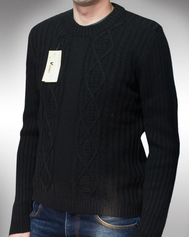 Турецький чоловічий светр по знижці чорного кольору, мужской свитер, распродажа фото №1