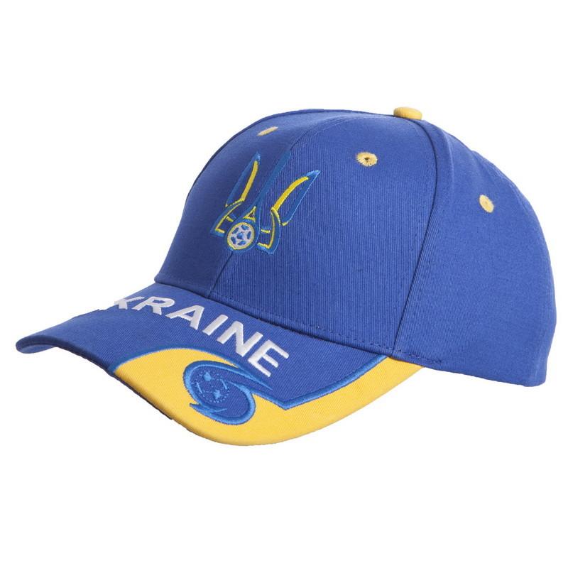 Кепка футбольного клуба украина 0807 (бейсболка ukraine): синий-желтый фото №1