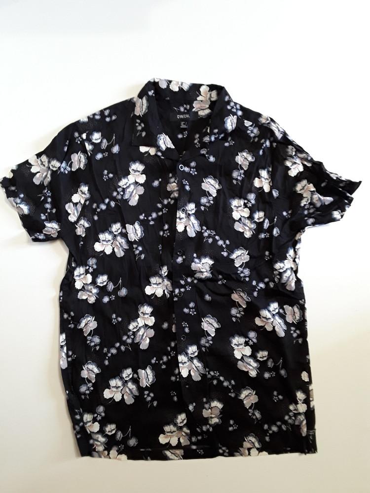 Фирменная легкая рубашка l фото №1