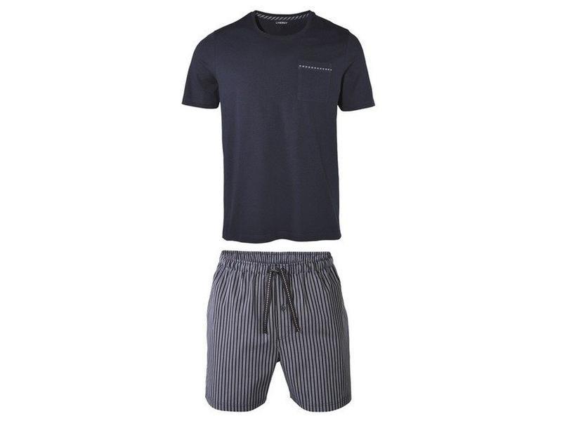 Летний комплект мужская пижама домашний костюм livergy германия, футболка шорты фото №1