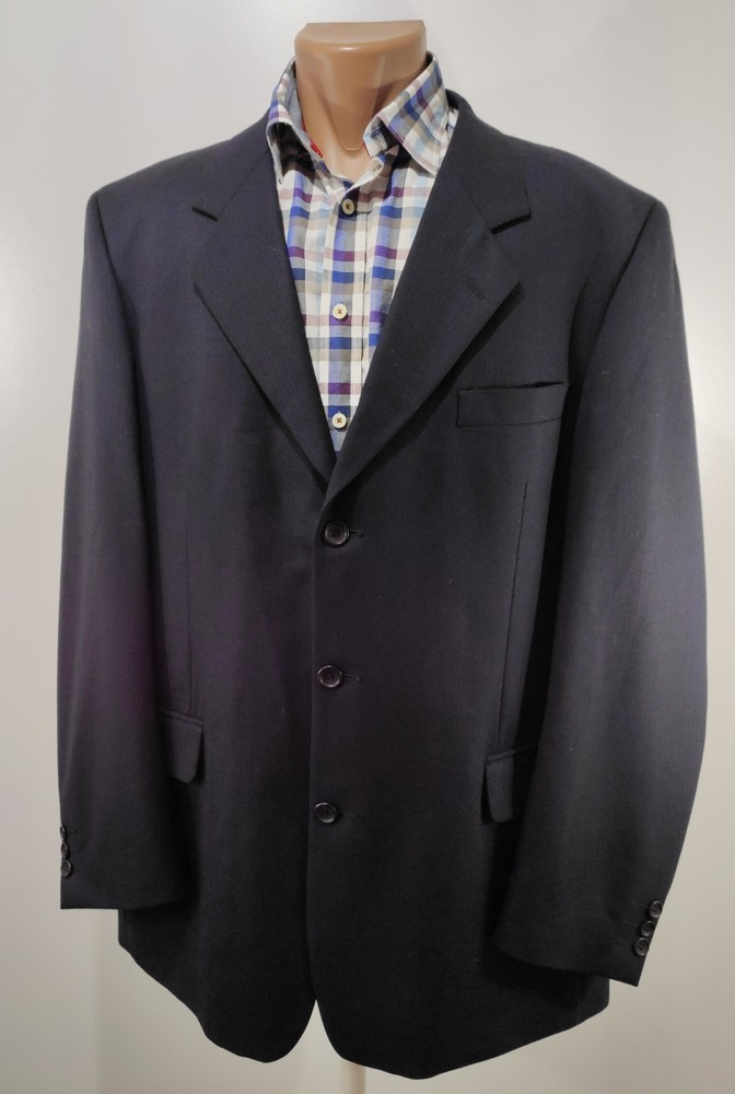Чоловічий синій піджак розмір 52 ( с23) фото №1