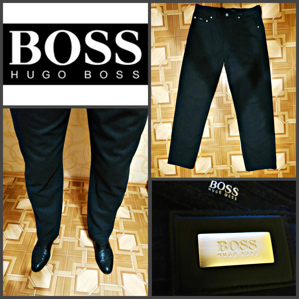 Повседневные брюки от hugo boss, оригинал, шерсть модель alabama w33 l34 фото №1