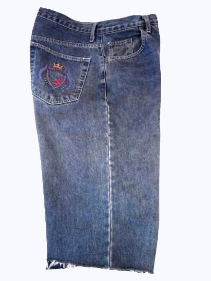 Мужские джинсовые длинные шорты, бриджи the sweater shop, талия 92 см. фото №1