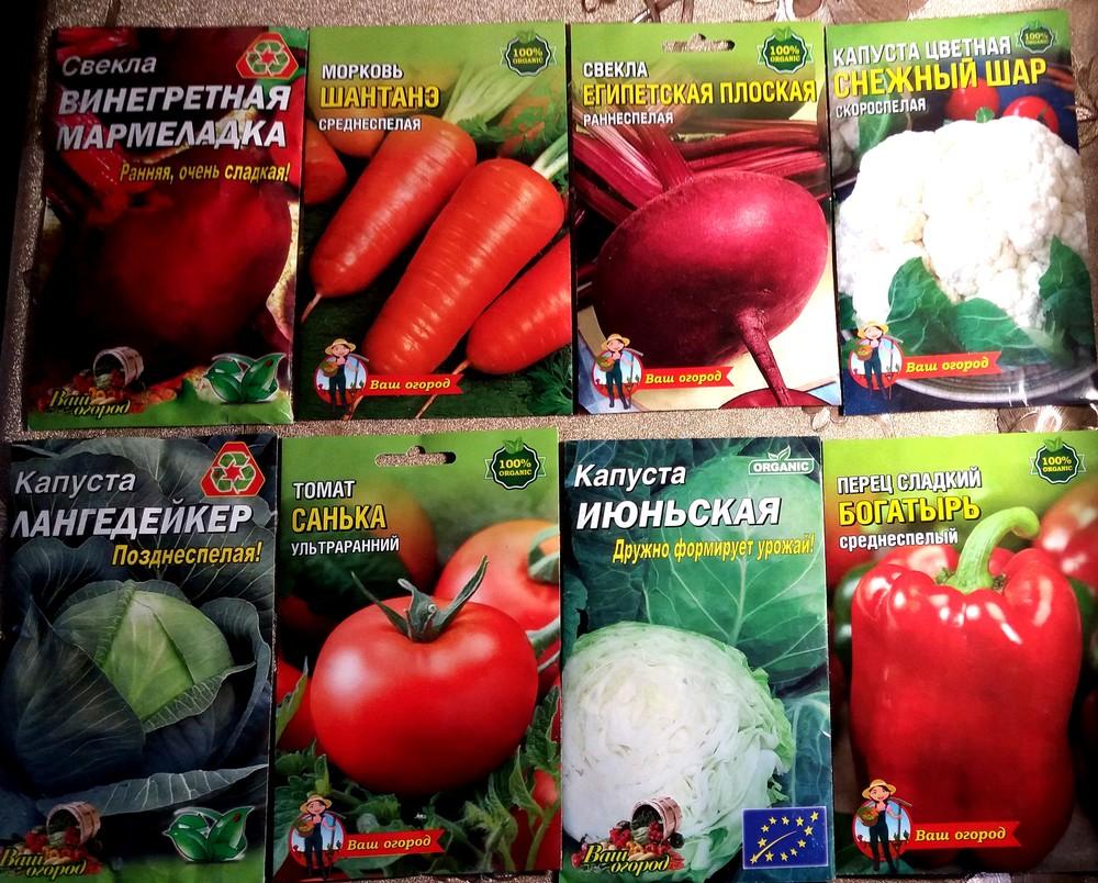 Семена овощных и бахчевых культур фото №1