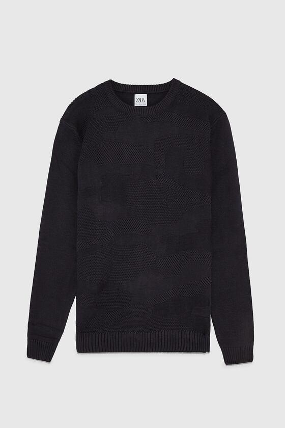 Фактурный хлопковый свитер джемпер zara - m, l фото №1
