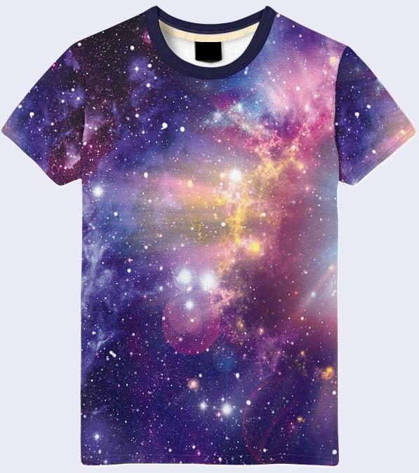 Мужская футболка 3d космический свет большой выбор фото №1