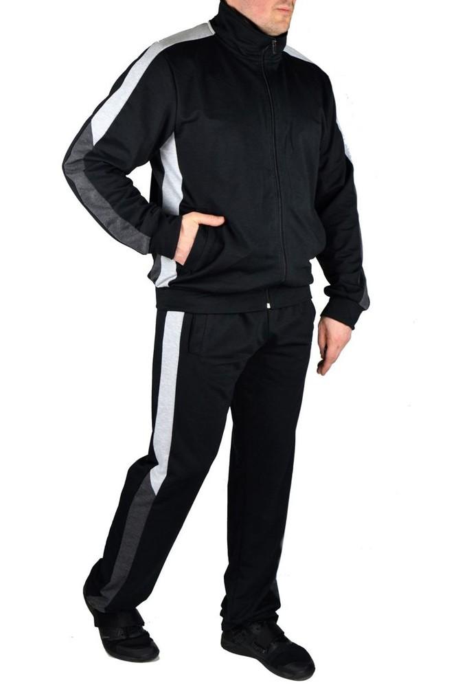 Мужской спортивный костюм, двунитка, 3 цвета, р-ры 48, 50, 52, 54 фото №1