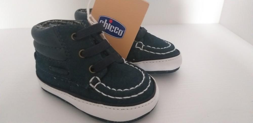 Стильные пинетки кроссовки для малышей chicco, размер 16. фото №1