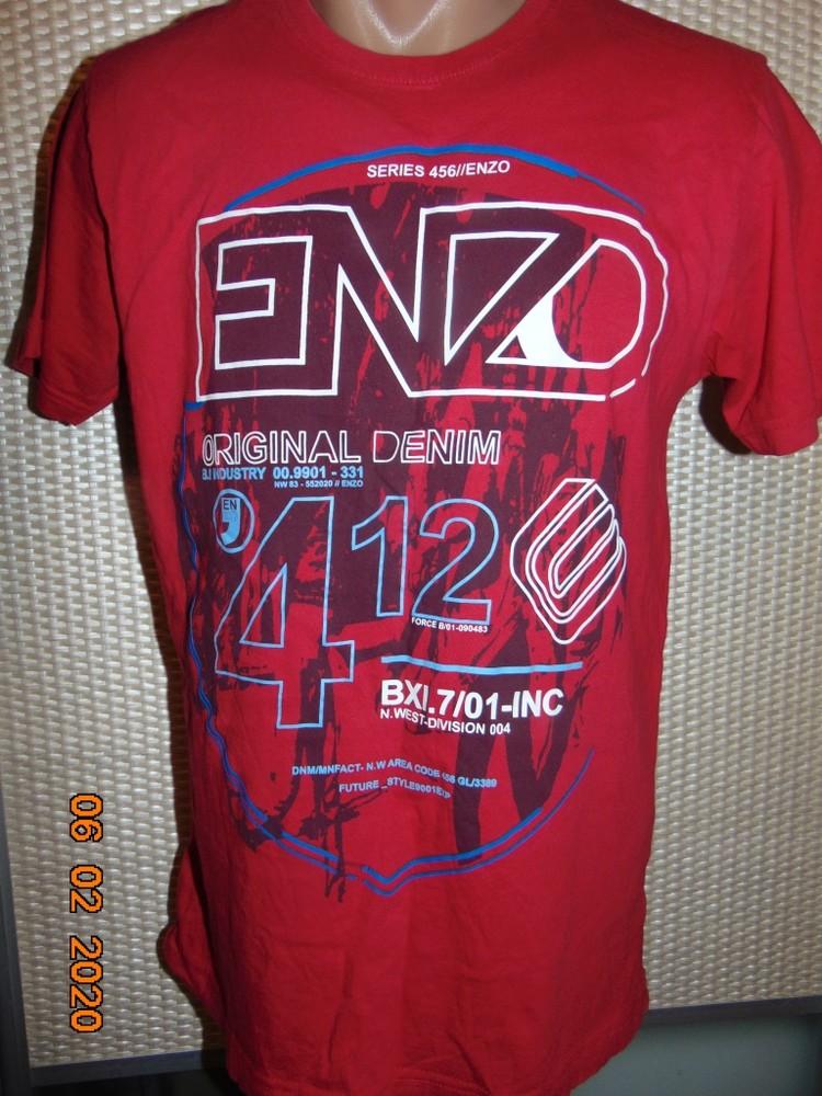Стильная фирменная футболка бренд .enzo xs-s.унисекс . фото №1