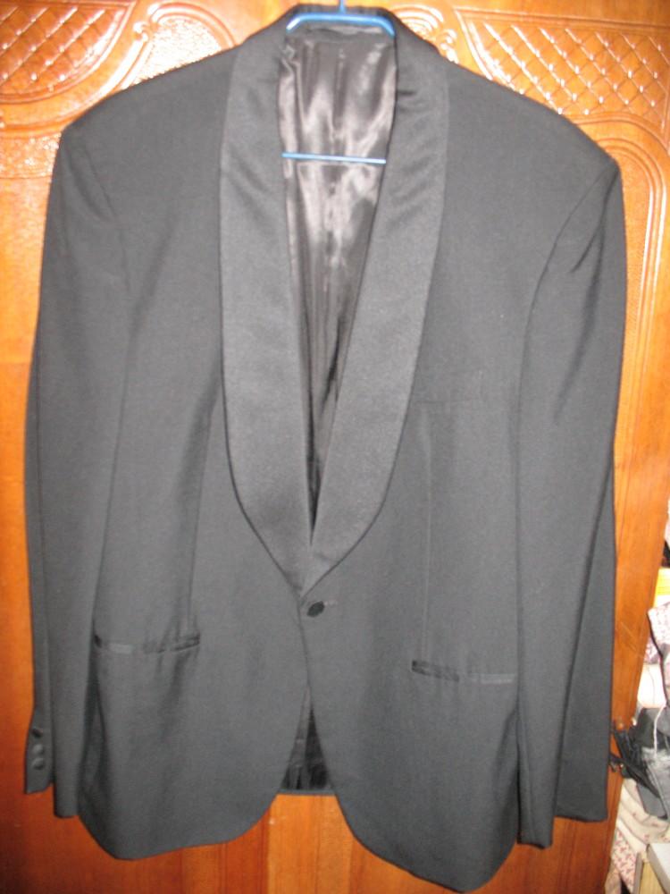 Пиджак-смокинг,разм.54,полушерсть. фото №1