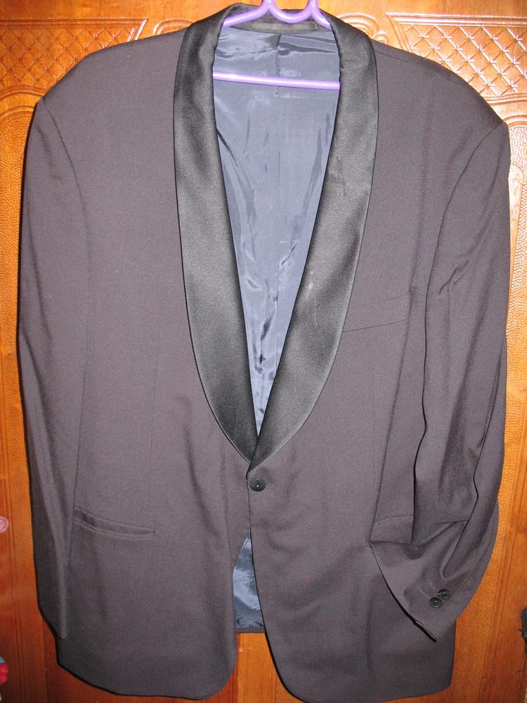 Пиджак-смокинг,шерсть,разм.52-54.нюанс. фото №1
