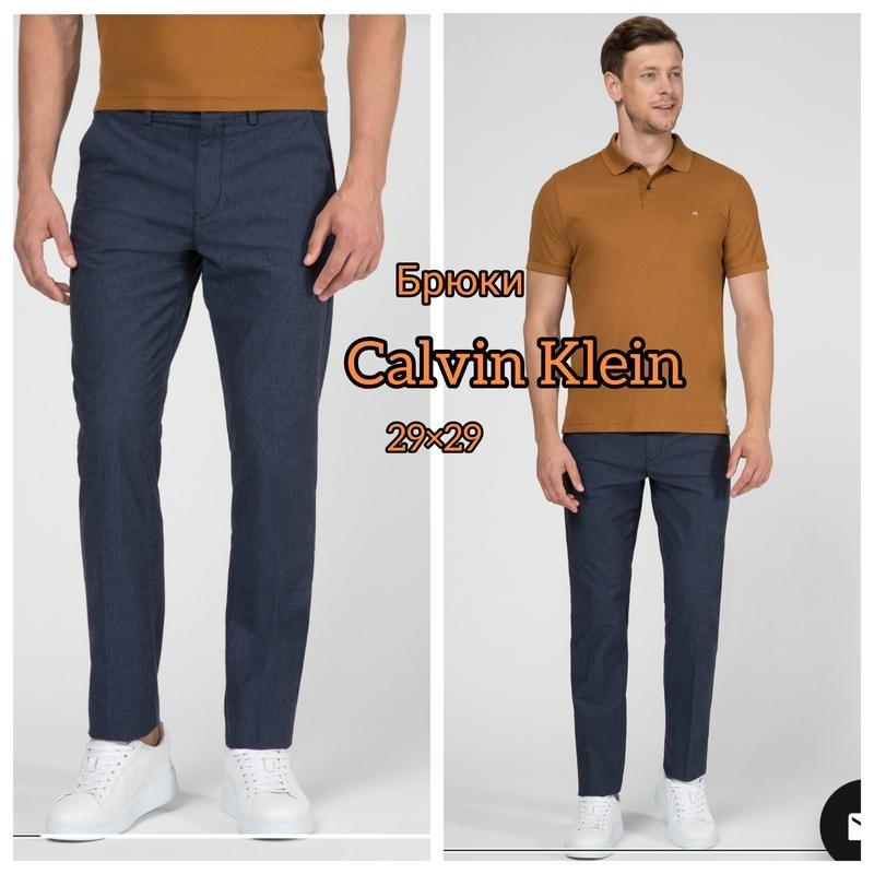 Calvin klein 29/29 классические серые зауженные брюки фото №1