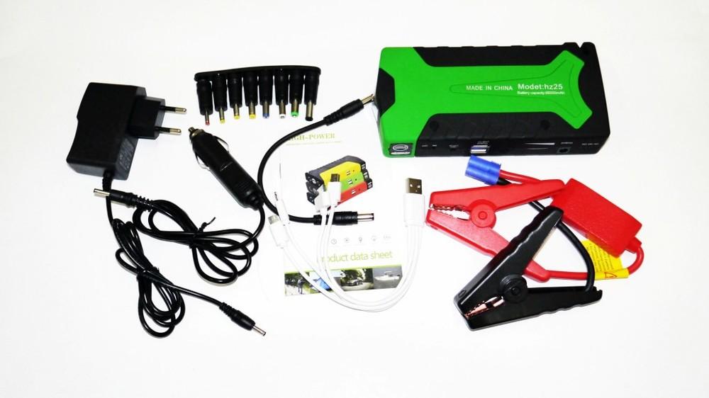 Повер банк зарядно пусковое устройство для машины car jump starter 20000mah 2хusb+фонарик фото №1