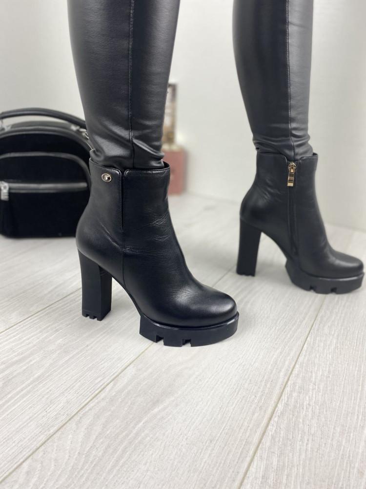 Женские кожаные ботинки демисезонные турция брэнд velony фото №1