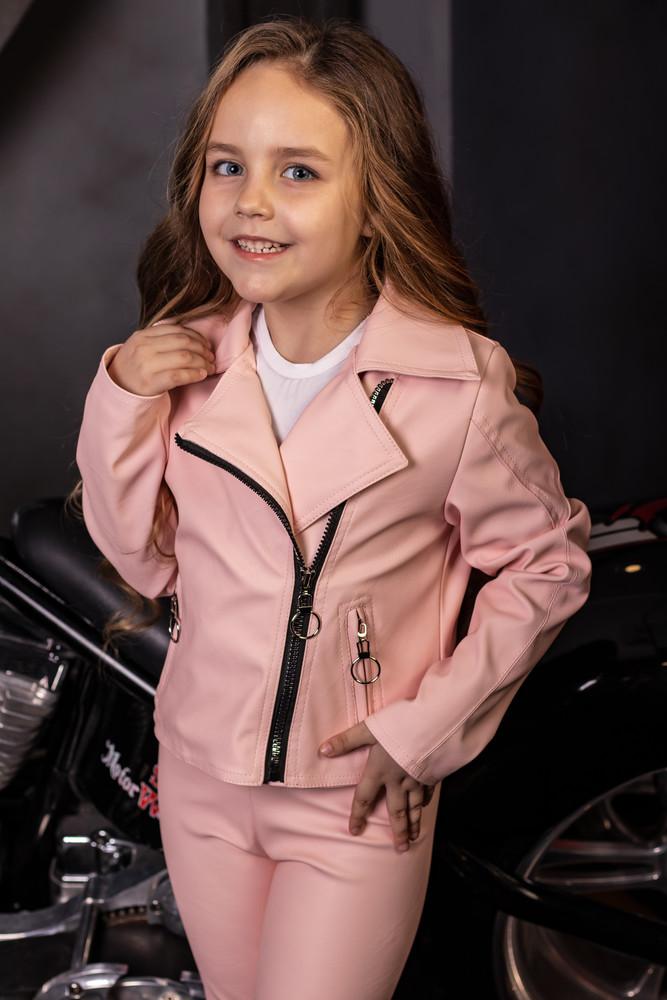 Шикарная куртка косуха ангел экокожа от производителя в ассортименте 104-158 фото №1