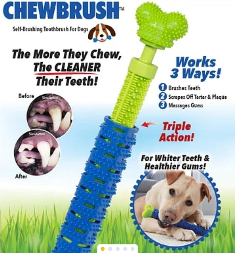 Зубная щётка для собак. фото №1