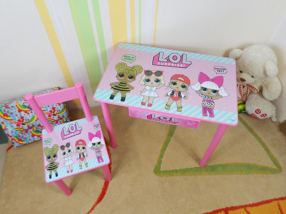 """Столик-парта и стульчик """"куклы лол - lol dolls """" от 2 до 7 лет фото №1"""