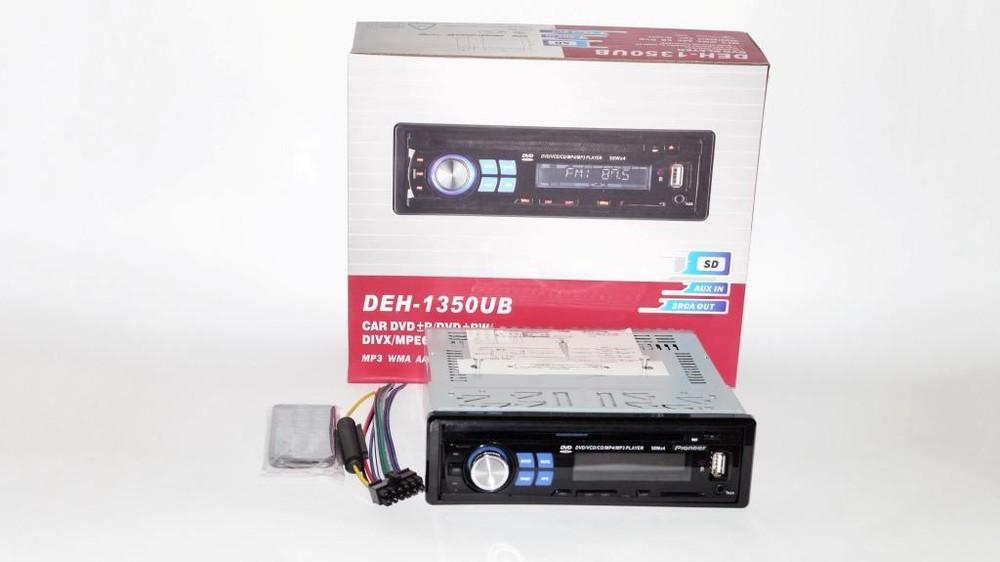 Dvd автомагнитола pioneer deh-1350ub usb+sd+mmc съемная панель фото №1