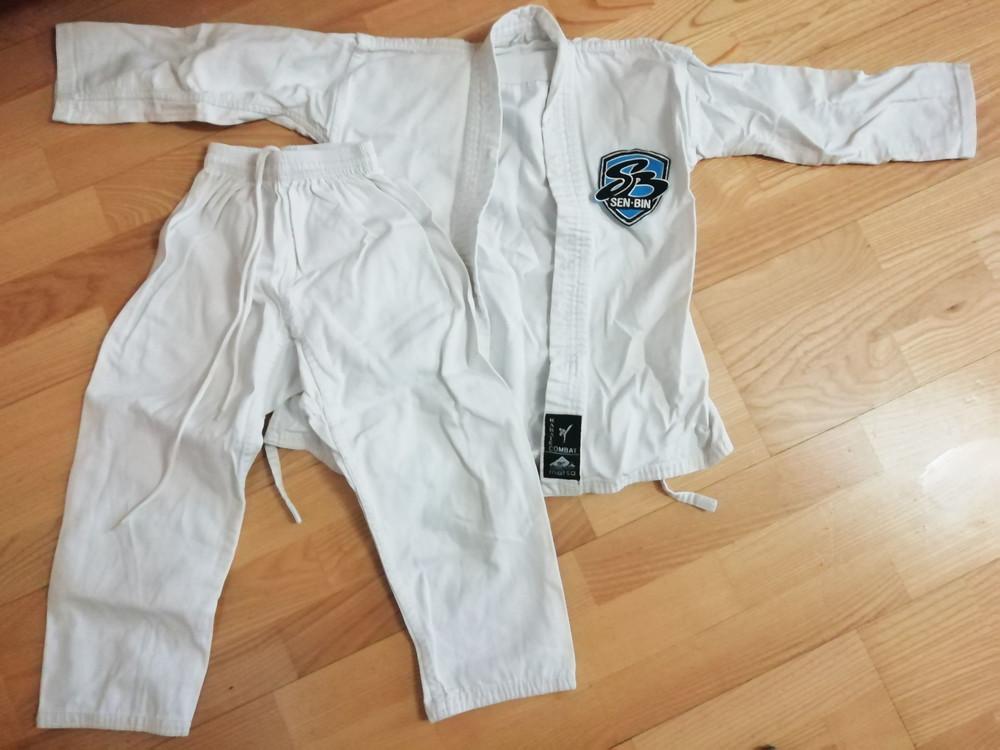 Кимоно кімоно детское карате айкидо дзюдо белое matsа 120 см фото №1