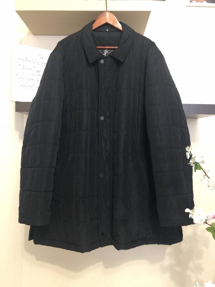 Демисезонная мужская куртка пуховик, длинная куртка деми, фото №1