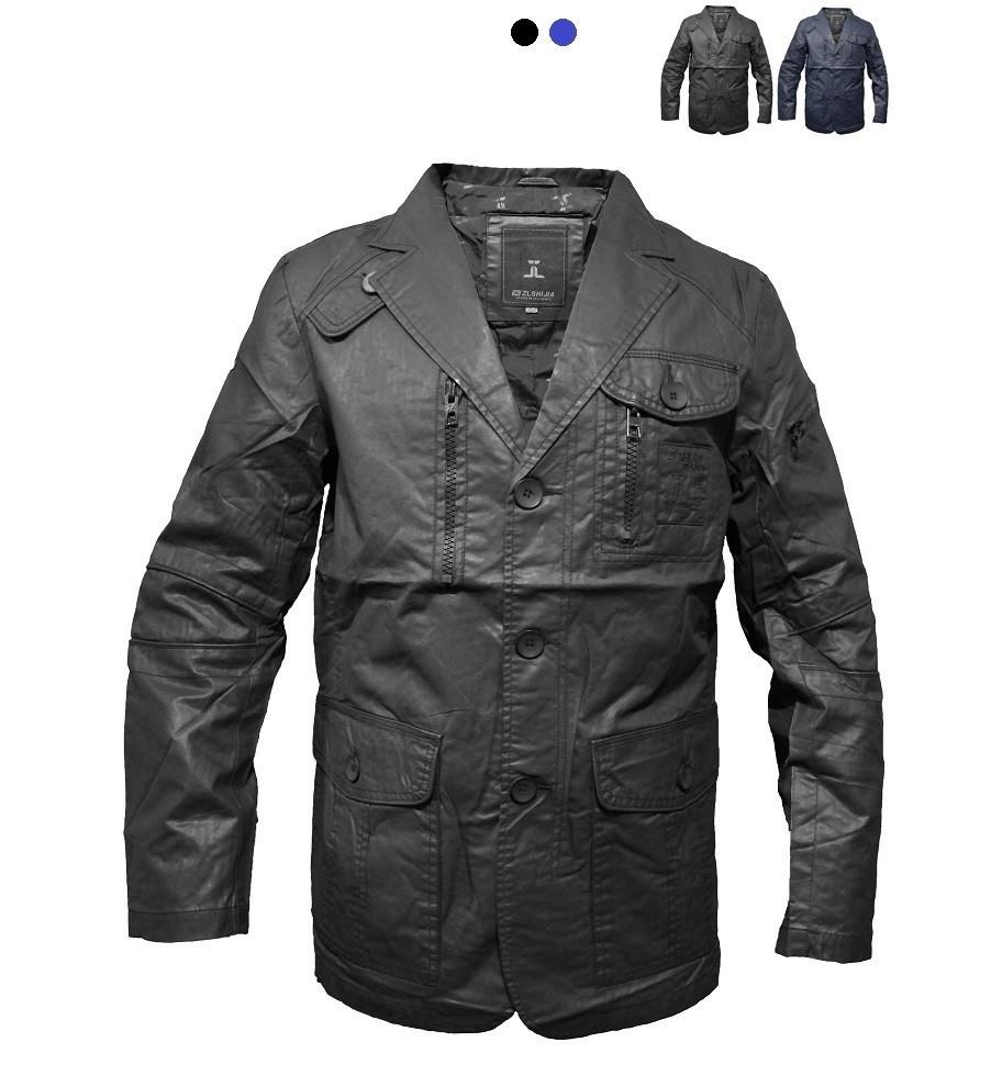Піджак, куртка шкірозамінник чорного кольору фото №1