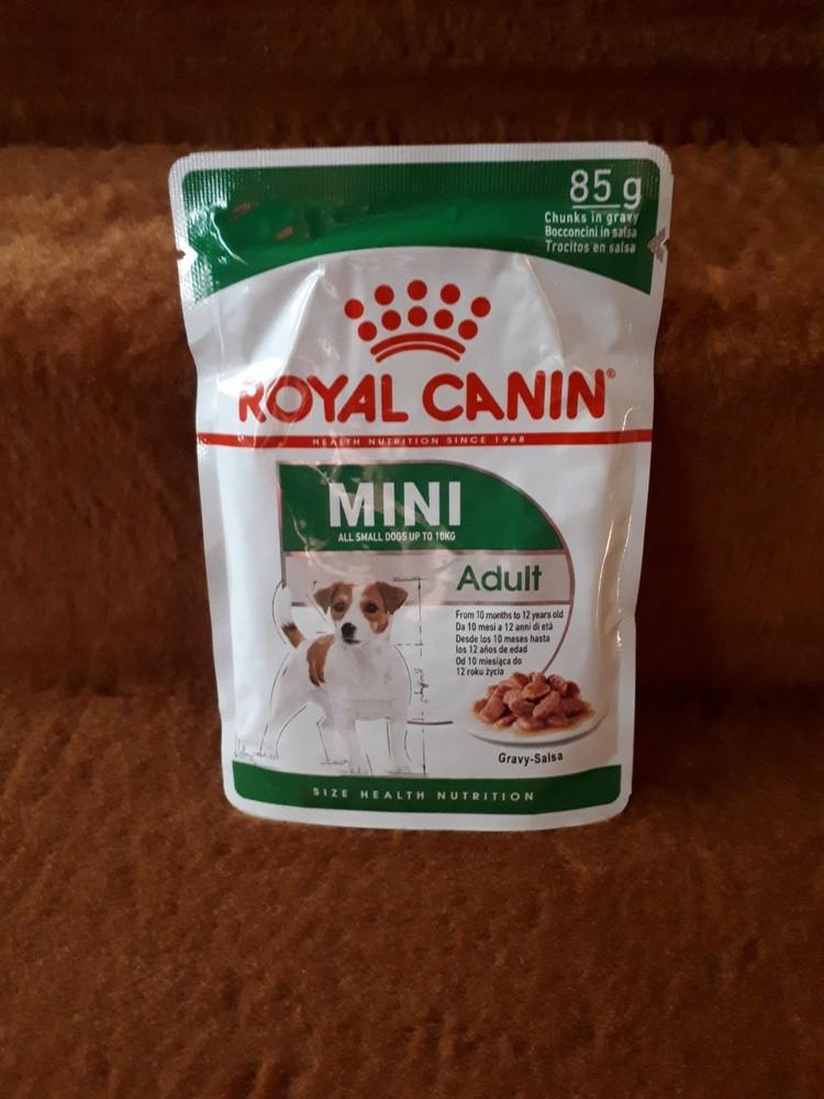 Пауч royal canin adult mini для взрослых собак малых пород вес до 10кг фото №1