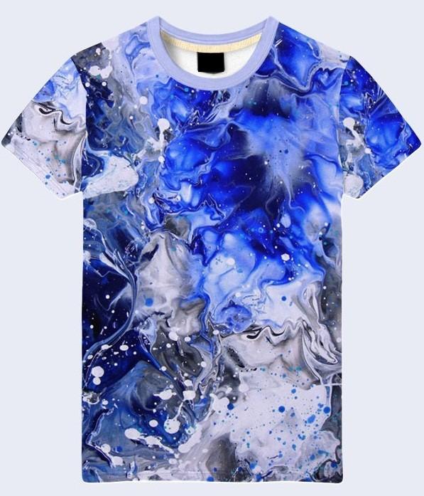 Мужская футболка 3d абстракция воды большой выбор фото №1