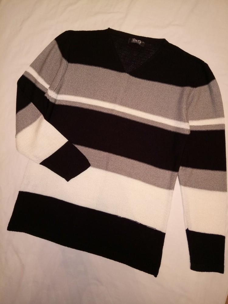 Пуловер свитерок с v-образной горловиной фото №1