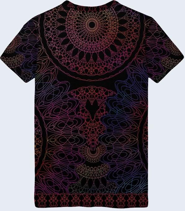 Мужская футболка 3d геометрические рисунки большой выбор фото №1