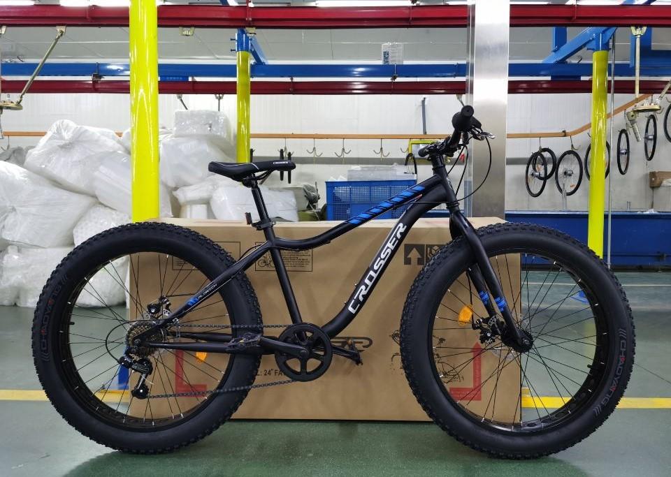 """Велосипед с широкими колесами фэтбайк crosser fat bike 26"""" фото №1"""