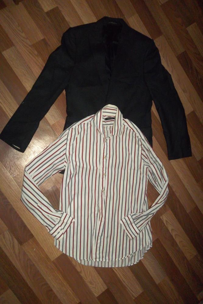Мужской пиджак+рубашка zara фото №1