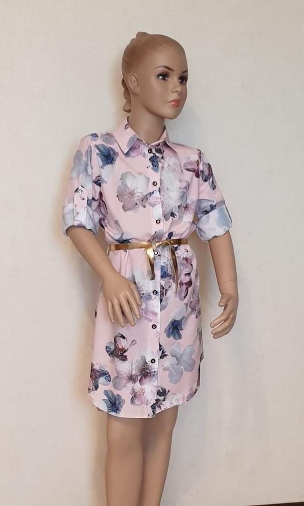 Красивое платье-рубашка для девочек фото №1