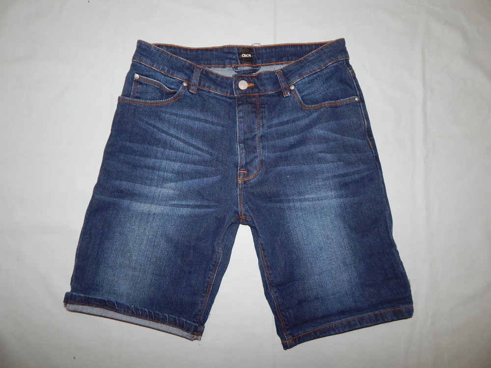 Asos шорты джинсовые мужские модные р32 рм фото №1