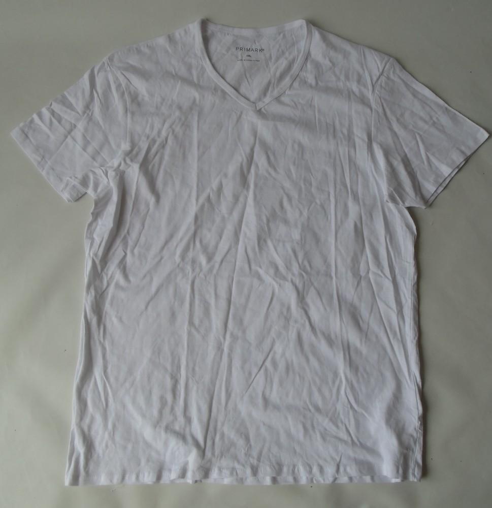 Базовая белая футболка хлопок 2хл ххл primark англия фото №1