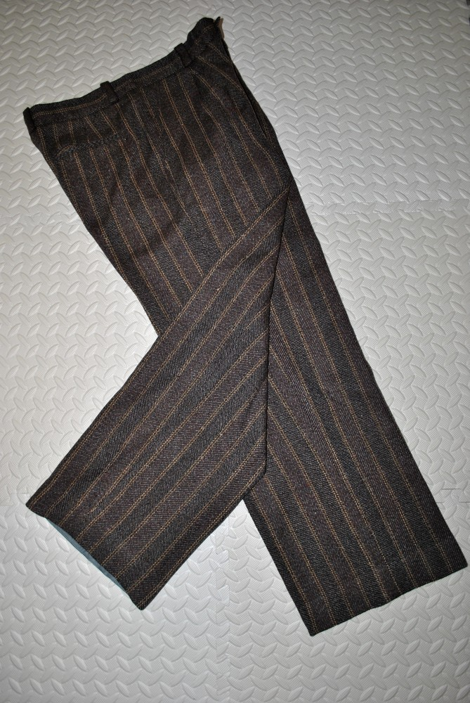 Штаны пот45 теплые зимние fred perry шерсть мужские коричневые брюки фото №1