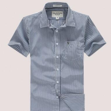 Рубашка в полосочку с коротким рукавом, размер с-м фото №1