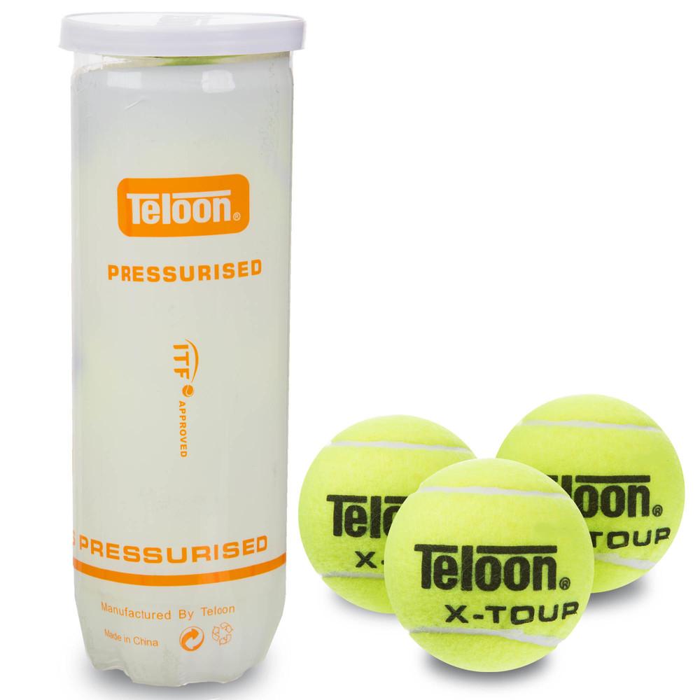Мяч для большого тенниса teloon x-tour t878p3: 3 мяча в вакуумной упаковке фото №1