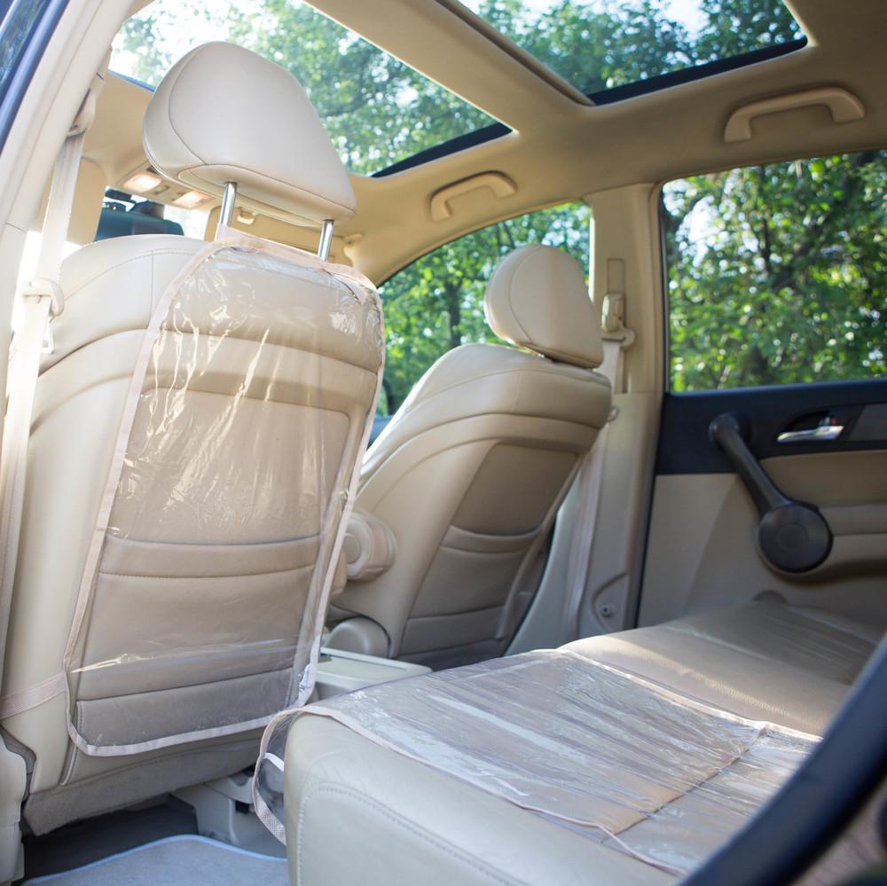 Защита на спинку сиденья в машину и на сидушку фото №1