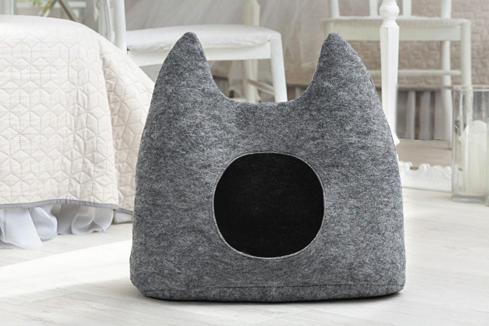 """Дом для кота из войлока """"ушки"""" серый фото №1"""