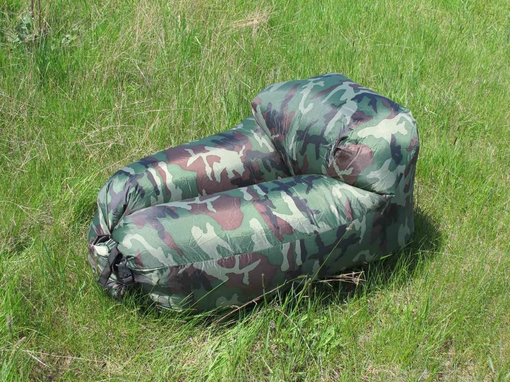 Ламзак надувной диван матрас лежак гамак кресло lamzac хаки камуфляж фото №1