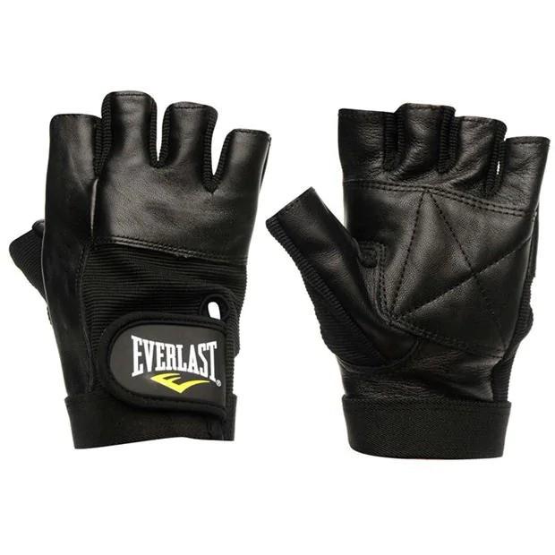 Перчатки кожанные новые для фитнесу еверласт everlast fitness original фото №1