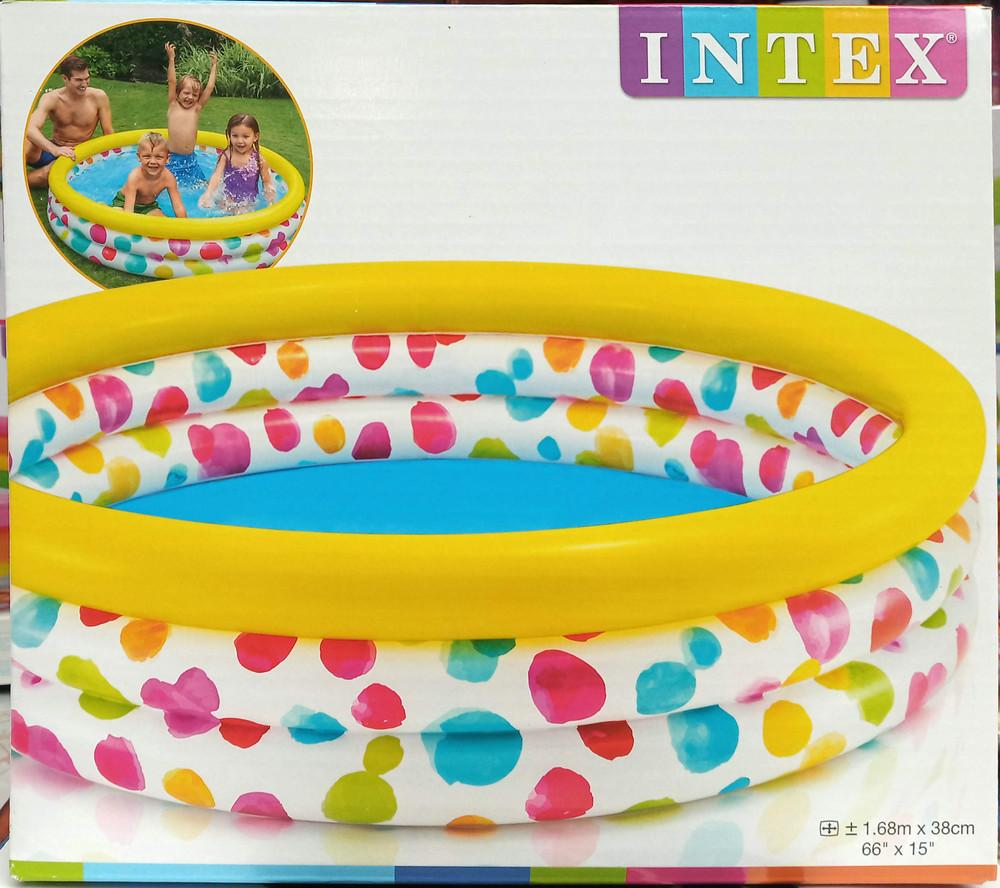 Intex бассейн 58449 геометрия размер 168 х 38 см, объёмом 581 л фото №1